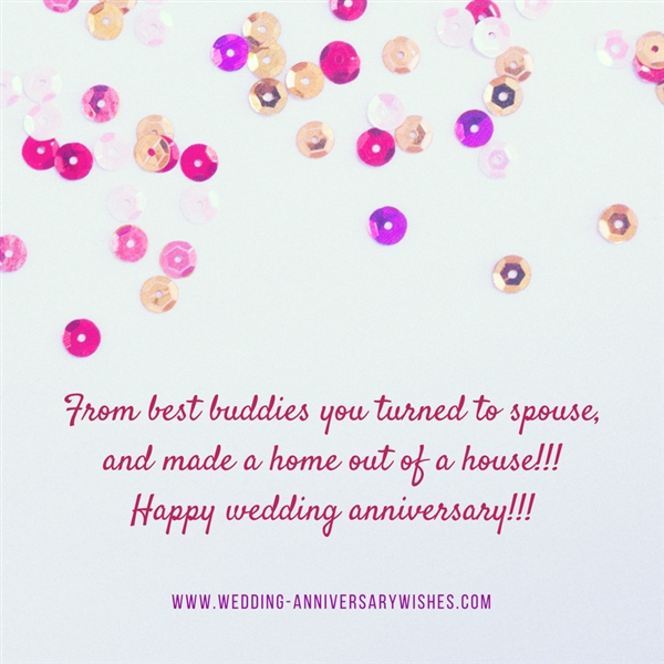 Wedding anniversary wishes for friends card